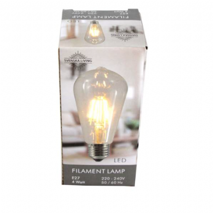 E27 Filament LED Decorative Bulb  4 Watt